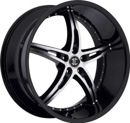 20 inch 20x10.0 2Crave No. 14 Black wheel rim; 5x4.5 5x114.3 bolt pattern with a 42 offse