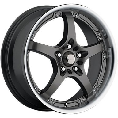 Akuza 429 17 Black Wheel / Rim 4x100 & 4x4.5 with a 45mm Offset and a 73 Hub Bore.