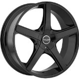 Akuza Axis 20 Black Wheel / Rim 5x115 & 5x120 with a 35mm Offset and a 74.1 Hub Bore. Par