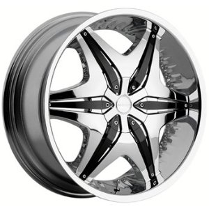 "Akuza Big Papi 712 Chrome Wheel (24x9""/5x114.3mm)"