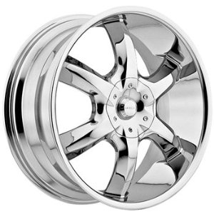 Akuza Lucuna 22x9.5 Chrome Wheel / Rim 5x4.75 & 5x5 with a 10mm Offset and a 83.70 Hub Bo