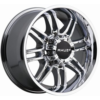 Akuza Ricco 17x9 Chrome Wheel / Rim 5x4.5 with a -12mm Offset and a 83.70 Hub Bore. Partn