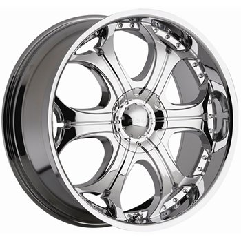 Akuza Spur 22x9.5 Chrome Wheel / Rim 5x5 & 5x135 with a 18mm Offset and a 87.00 Hub Bore.