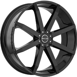 Akuza Zenith 18 Black Wheel / Rim 5x4.5 & 5x4.75 with a 20mm Offset and a 74.1 Hub Bore.