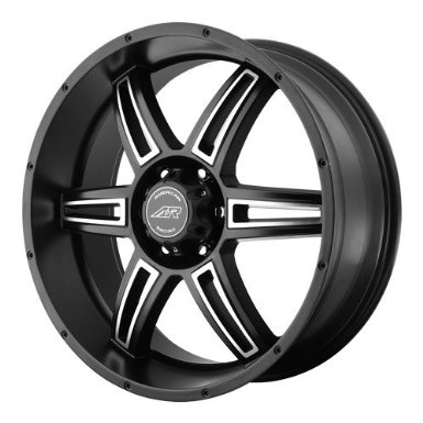 American Racing AR890 17x8 Black Wheel / Rim 6x5.5 with a 30mm Offset and a 106.25 Hub Bo