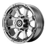 American Racing ATX Ledge 18x9 Chrome Wheel / Rim 8x6.5 with a 0mm Offset and a 125.50 Hub