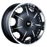 18x7.5 Baccarat Director (1150) (Black w/ Machined Lip) Wheels/Rims 5x110/115 (1150B-8711