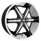 24x9.5 Baccarat Outrage (2160) (Black w/ Machined Lip) Wheels/Rims 6x139.7 (2160B-24984)