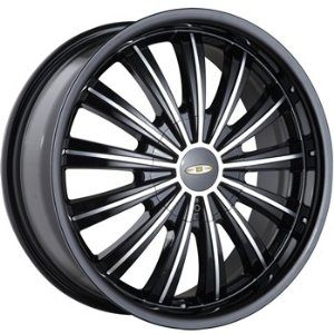 Baccarat Taboo 20 Black Wheel / Rim 5x110 & 5x115 with a 40mm Offset and a 72.62 Hub Bore