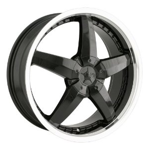 "DIP Laser D95 Black Wheel with Machined Lip (17x7""/10x100mm)"