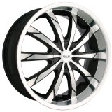 "DIP Slack D66 Black Wheel with Machined Face and Lip (18x7.5""/10x112mm)"