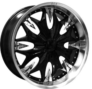 DOLCE DC20 20X8.5+38 5X112+5X114.3 BLACK WITH CHROME ACCENTS