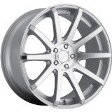 Dropstars 643MS 20 Silver Wheel / Rim 5x115 & 5x120 with a 20mm Offset and a 74.1 Hub Bore