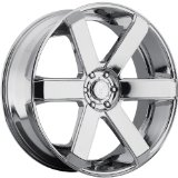 Dropstars 644C 26 Chrome Wheel / Rim 6x135 & 6x5.5 with a 25mm Offset and a 108 Hub Bore.