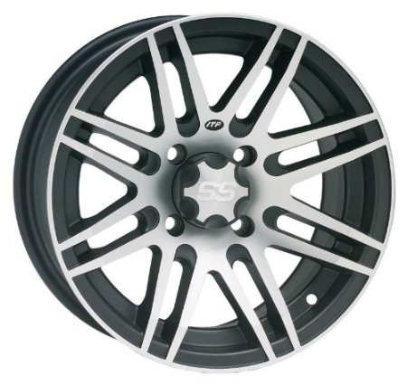 ITP SS316 Wheel - 14x7 - 5+2 Offset - 4/110 - Black/Machined , Bolt Pattern: 4/110, Rim Of