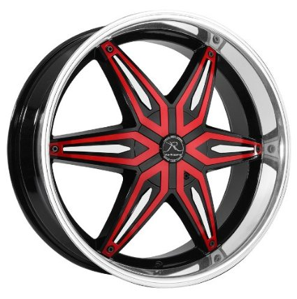 KaRizzma 40 40x4040 Black And Machined Wheel With Red Inserts Adorable 5x115 Bolt Pattern Rims