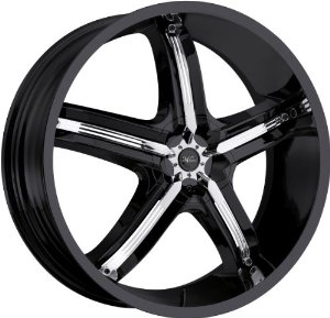 Milanni Bel-Air 5 20 Black Wheel / Rim 5x110 & 5x115 with a 38mm Offset and a 74.1 Hub