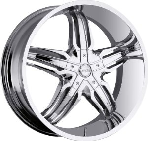 Milanni Phoenix 22 Chrome Wheel / Rim 6x5.5 with a 20mm Offset and a 110 Hub Bore.