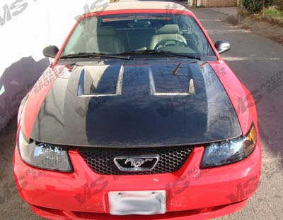 99-03 Ford Mustang 2dr Xtreme GT Carbon Fiber Hood