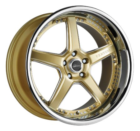 "19"" Wheels Rims Vertini Drift Wheel Rims Sale Gold Machined Face Chrome Lip Genesis Coupe"