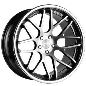 VERTINI MAGIC WHEELS RIMS 20X8.5 20X10 BLACK MACHINE FACE 4pc 1-set