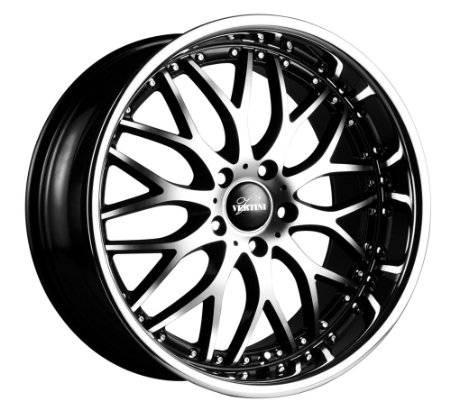 "Vertini Riviera Rims Wheels 19x8.5"" 19x9.5"" BMW 3 Series Machined Black Chrome LIP 4pc-1se"